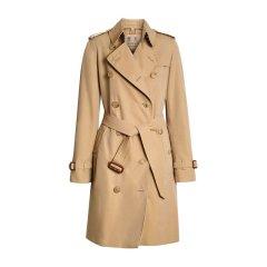 【包邮包税】Burberry 博柏利 20春夏 女装 服饰 肯辛顿版型 棉质双排扣束腰修身长款 女士大衣外套图片