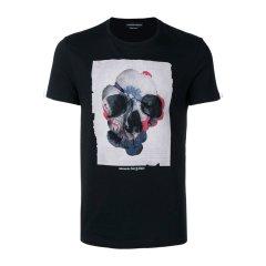 【包邮包税】Alexander McQueen 亚历山大·麦昆 20春夏 男装 服饰 棉质时尚彩色骷髅头印花 男士短袖T恤图片