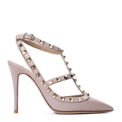VALENTINO 华伦天奴  皮革  ROCKSTUD 100 女士 踝带高跟鞋 MW2S0393图片