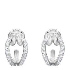 【包税】Swarovski 施华洛世奇 【18新品】女士LIFELONG扭结设计穿孔耳环耳饰 5390814图片