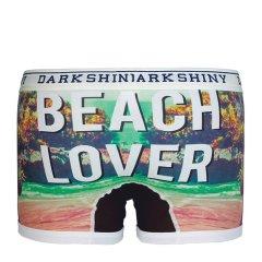 日本时尚手绘 沙滩上的恋人 平角男士内裤图片