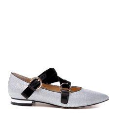 BENATIVE/本那2018春夏新品女士平跟鞋  简约舒适玛丽珍圆头平底黑色单鞋图片