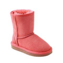 OZWEAR UGG 秋冬款经典二代防水防滑皮毛一体儿童中筒雪地靴OB007男童女童图片