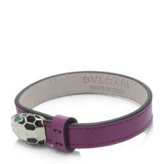 【包税】BVLGARI/宝格丽  女士多色小牛皮手镯 28329紫色 20cm图片