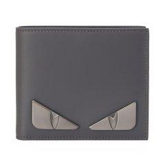 【奢品节可用券】FENDI/芬迪 男士灰色牛皮小怪兽短款钱夹钱包 7M0169 SQP图片