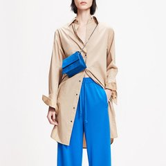 MO&Co./摩安珂女士连衣裙2019春季新品腰带一件式衬衫式连衣裙MAI1DRS047图片
