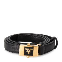 PRADA/普拉达  Saffiano 女士皮革黑色腰带 1CC157053F0图片