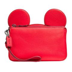 COACH/蔻驰 迪士尼合作款disneycoach米奇女士牛皮耳朵款钱包卡包手拿包F59529图片