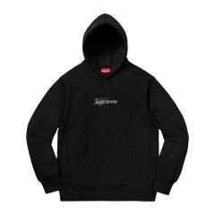 【预售】Supreme 19SS Swarovski Box logo Hooded施华洛世奇卫衣帽衫图片