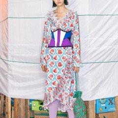 【DesignerWomenswear】UOOYAA/乌丫2019春季新款专柜正品时髦缎面提花料个性女士连衣裙图片