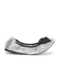 Cocorose 银色仿蛇皮女士平跟鞋图片