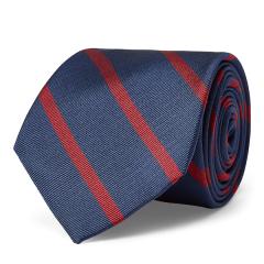 Polo Ralph Lauren/拉夫劳伦马球 18新款男士棱纹平布条纹真丝窄版领带 0040123853图片