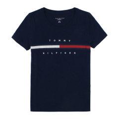 【包税】TOMMY HILFIGER/唐美.希绯格  女士休闲纯色圆领短袖T恤 RM87685584图片