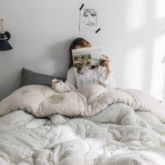好梦来家纺简约针织冬被系列图片