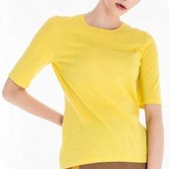 Zynni Cashmere/臻尼羊绒【定制】 纯羊绒高支精纺中袖女士套头衫 女装定制图片
