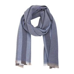 GUCCI/古驰  中性男女款羊毛长款条纹围巾 387574 4G200 9573 灰蓝色图片