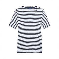 GANT/甘特 2018夏新款条纹圆领套头女士短袖T恤 4203453图片