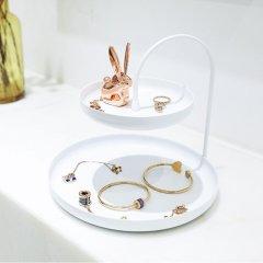 umbra POISE 珀思双层珠宝架金属置物架珠宝首饰盒收纳架桌面化妆品架 大号图片