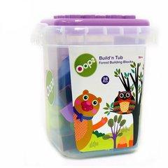 瑞士Oops大颗粒塑料积木 桶装玩具 益智拼插 多功能玩具收纳箱图片