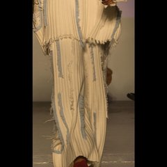 Zynni Cashmere 加厚毛绒时尚流苏做烂宽腿裤BL9005图片