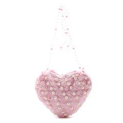 Hanakimi英国品牌女童手工定制花朵钉珠心形手包儿童小挎包图片