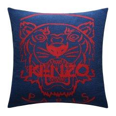 KENZO/高田贤三 抱枕靠垫腰枕办公室沙发靠枕床头靠背汽车护腰垫腰靠正方形(蓝/灰)图片