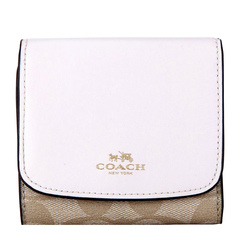 COACH/蔻驰 女士拼色PVC/配皮短款钱包皮夹 F53837图片