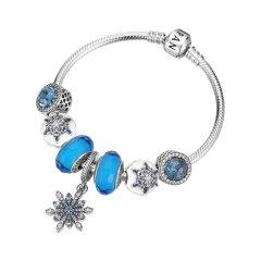 PANDORA/潘多拉蓝色圣诞 漫天雪花 星空成品手链 女士 手链 SL248图片