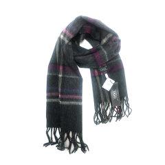 【包邮免税】Ozwear UGG时尚保暖美丽诺羊毛围巾 纯木炭色图片
