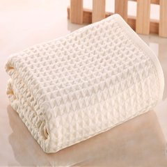 UCHION/内野 日本品牌松软华夫格浴巾70*140CM图片