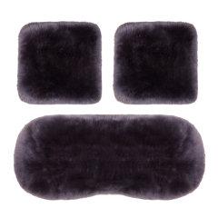 NATU  汽车新款冬季羊毛三件套坐垫 汽车羊毛坐垫  汽车毛绒座垫 汽车坐垫图片