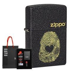 ZiPPO/芝宝 磨砂黑裂漆防风打火机 男士商务礼品 礼盒套装图片