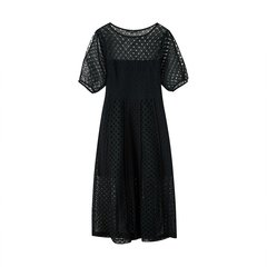 bebe/bebe【Designer Womenwear】2019春夏季新品女士连衣裙修身短袖小镂空连衣裙 150006图片