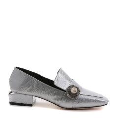 【17春夏】BENATIVE/本那  皱漆皮纯色套脚单鞋 低/中跟鞋 BN01712870图片
