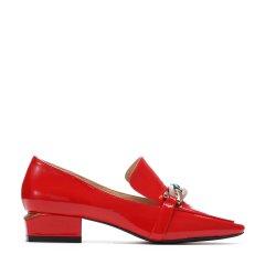 BENATIVE/本那2018春夏新品低跟系列方头优雅单鞋 皱漆皮女士中跟鞋BN01812033图片