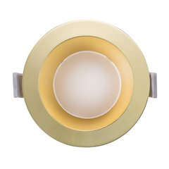 Paulmann/德国柏曼 Kaiser LED面环铜电镀钛金筒灯 嵌入式美式天花灯 金色筒灯走廊过道玄关灯图片