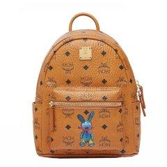 MCM 女士PVC兔子印花图案迷你双肩包背包女包 多色可选图片