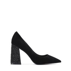 【Designer Shoes】BENATIVE/本那18春夏新品时尚奢华系列  优雅贴钻粗跟高跟鞋 尖头女鞋BN01815011图片