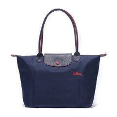 Longchamp/珑骧 女士LE PLIAGE系列织物尼龙小号长柄可折叠手提单肩包 2605刺绣图片
