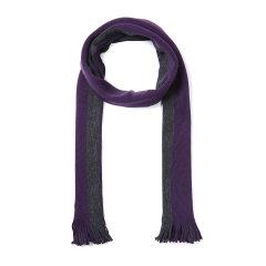 HUGO BOSS/雨果波士围巾-男士黑牌紫色围巾 材质:100羊毛图片