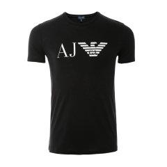 ARMANIJEANS/阿玛尼牛仔 男士T恤-纯棉圆领 黑白蓝红色-男士短袖T恤 8N6T996JPFZ图片