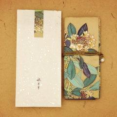 祝大年工笔重彩花卉绢面布卷 茶具 香具 首饰 文具 包 布袋 工笔 工笔重彩 珍珠 四季平安 绳 真丝 礼物 收纳图片