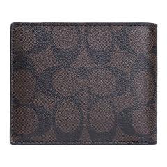COACH/蔻驰 男士 PVC 经典C纹印花对折短款钱包钱夹  F75083图片