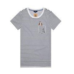 HAZZYS/哈吉斯 2018夏季新款T恤女夏日活力时尚女士短袖T恤ASTSE08BE55图片