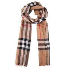 BURBERRY/博柏利  格X羊毛丝质混纺围巾 3743232
