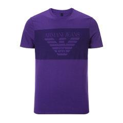 【17年春夏新款】ARMANI JEANS/阿玛尼牛仔男士T恤-男士牛仔系列T恤棉图片