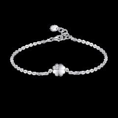 【Designer Jewelry】brosway/宝思薇 GARDEN系列925银施华洛世奇元素锆石幸运草造型手链 G9GR11图片