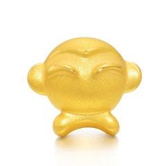 Magifas/Magifas 十二生肖之伶俐猴 3D硬金足金 生肖猴本命年手工编织转运珠手绳 四选一 款四图片