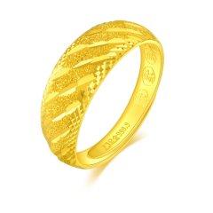 China Gold/中国黄金 斜纹足金指环图片