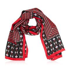 【包税】FENDI/芬迪  女士多色丝巾 FXT085005ODF0Q红色 长方形图片